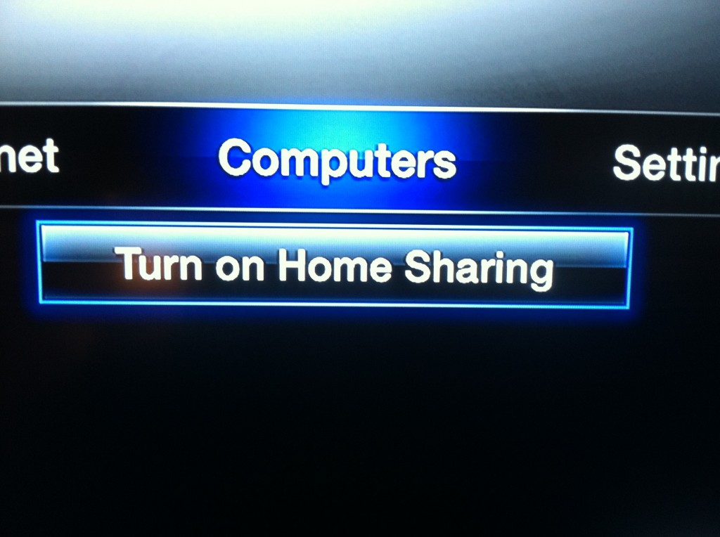how to turn on home sharing using itunes