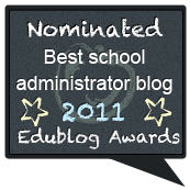 Nominated for Best School Admin Blog